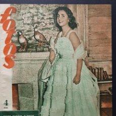 Coleccionismo de Revistas y Periódicos: REVISTA FOTOS 1952 JUANY SOARIN ALARCOS ANTONIO MACHADO GOETHE MANUEL BENEDITO. Lote 122263499