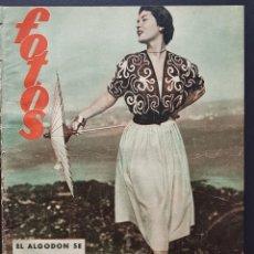 Coleccionismo de Revistas y Periódicos: REVISTA FOTOS 1952 EVA DUARTE FLECHA ROTA ALEMANIA HOY FERIA DEL LIBRO FRANCO. Lote 122263767