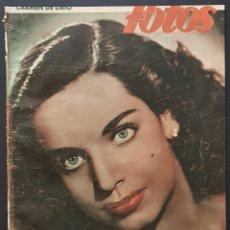 Coleccionismo de Revistas y Periódicos: REVISTA FOTOS 1952 CARMEN DE LIRIO JUANITA REINA GLENN FORD LANA TURNER. Lote 122263907