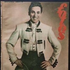 Coleccionismo de Revistas y Periódicos: REVISTA FOTOS 1952 ANTONIO AMAYA SALVADOR DALI ESTHER WILLIANS LILI MURATI PLATILLOS VOLANTES. Lote 122264047