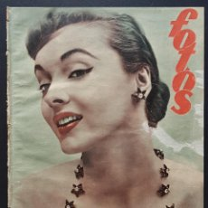 Coleccionismo de Revistas y Periódicos: REVISTA FOTOS 1952 JOYAS BRILLANTES MYRNA LOY SANITARIOS ESPAÑOLES. Lote 122264167