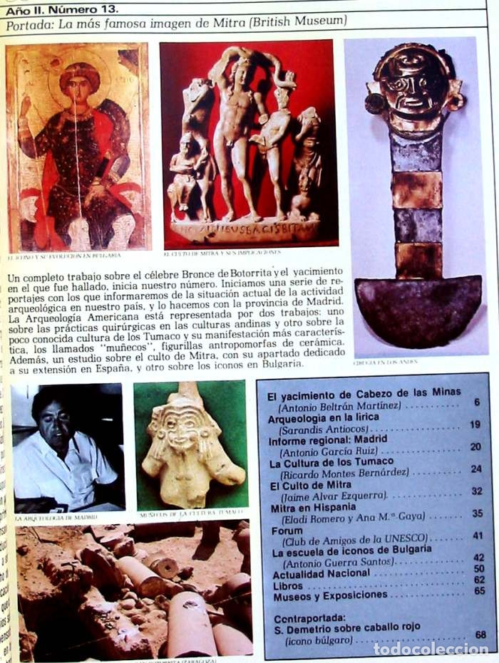 Coleccionismo de Revistas y Periódicos: REVISTA DE ARQUEOLOGÍA Nº 13 / NOVIEMBRE 1981 - ZUGARTO EDICIONES - VER ÍNDICE - Foto 2 - 122341124