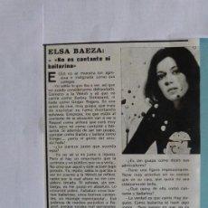 Coleccionismo de Revistas y Periódicos: RECORTE REPORTAJE CLIPPING DE ELSA BAEZA REVISTA SEMANA Nº 1880 PAG. 19. Lote 122417855