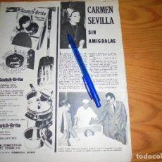 Coleccionismo de Revistas y Periódicos: RECORTE PRENSA : CARMEN SEVILLA, OPERADA. AMA, JUNIO 1965. Lote 122535535