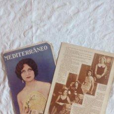 Coleccionismo de Revistas y Periódicos: LOTE REVISTAS FEMENINAS AÑOS 20 MEDITERRANEO.DAMAS.ARTE.CULTURA.BARCELONA. Lote 122535655