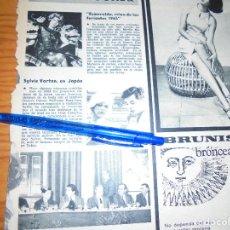 Coleccionismo de Revistas y Periódicos: RECORTE PRENSA : SYLVIE VARTAN, EN JAPON. AMA, JUNIO 1965. Lote 122535859