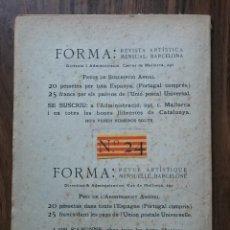 Coleccionismo de Revistas y Periódicos: 1907, DICIEMBRE. FORMA. REVISTA ARTÍSTICA MENSUAL, N. 24. Lote 122548663