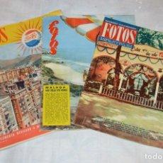 Coleccionismo de Revistas y Periódicos: VINTAGE - LOTE DE REVISTA FOTOS - MÁLAGA Y COSTA DEL SOL - 1 REVISTA Y DOS SUPLEMENTOS - ENVÍO 24H. Lote 122568239