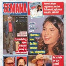 Coleccionismo de Revistas y Periódicos: SEMANA - 1993 - CHABELI, FERNANDO REY, MICHAEL JACKSON, ESPARTACO, MAR FLORES, MANÉ, ROCÍO JURADO. Lote 53060484
