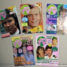 Coleccionismo de Revistas y Periódicos: LOTE 5 REVISTAS SUPER GUÍA TV, OBSEQUIO DE LA REVISTA PRONTO, AÑOS 80. GUÍA DE TELEVISIÓN.TV VINTAGE. Lote 122619523