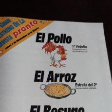 Coleccionismo de Revistas y Periódicos: ANUNCIO COCINA PRONTO. Lote 122701103