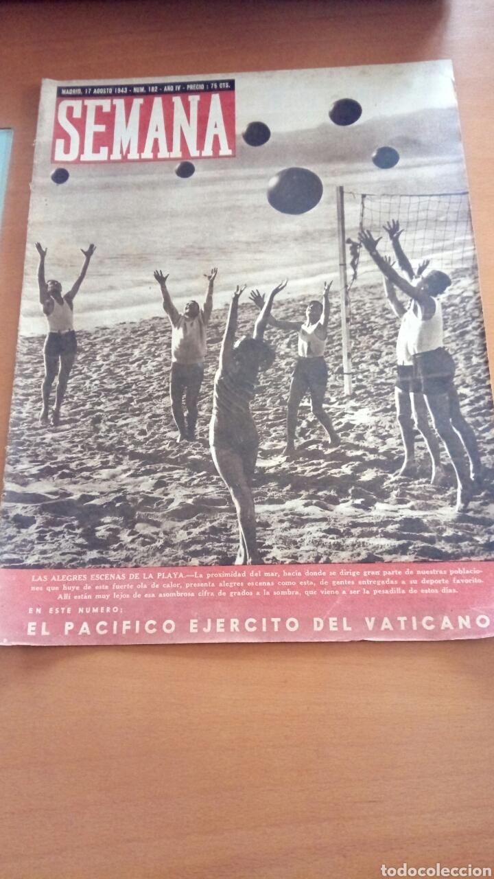 REVISTA SEMANA N°182. AGOSTO DE 1943. (Coleccionismo - Revistas y Periódicos Modernos (a partir de 1.940) - Otros)