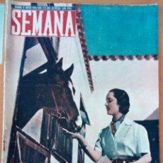 Coleccionismo de Revistas y Periódicos: REVISTA SEMANA N°473. MARZO DE 1949. BELLEZAS ESPAÑOLAS.. Lote 122775414