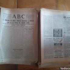 Coleccionismo de Revistas y Periódicos: GRAN LOTE PERIODICOS ABC AÑOS 57-58-59 Y 74-75. VER DESCRIPCION. Lote 206862941