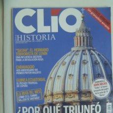 Coleccionismo de Revistas y Periódicos: REVISTA HISTORIA CLIO , Nº 105: GUINEA ECUATORIAL , EL HERMANO DE LENIN, CARAVAGIO, ETC. Lote 122999207