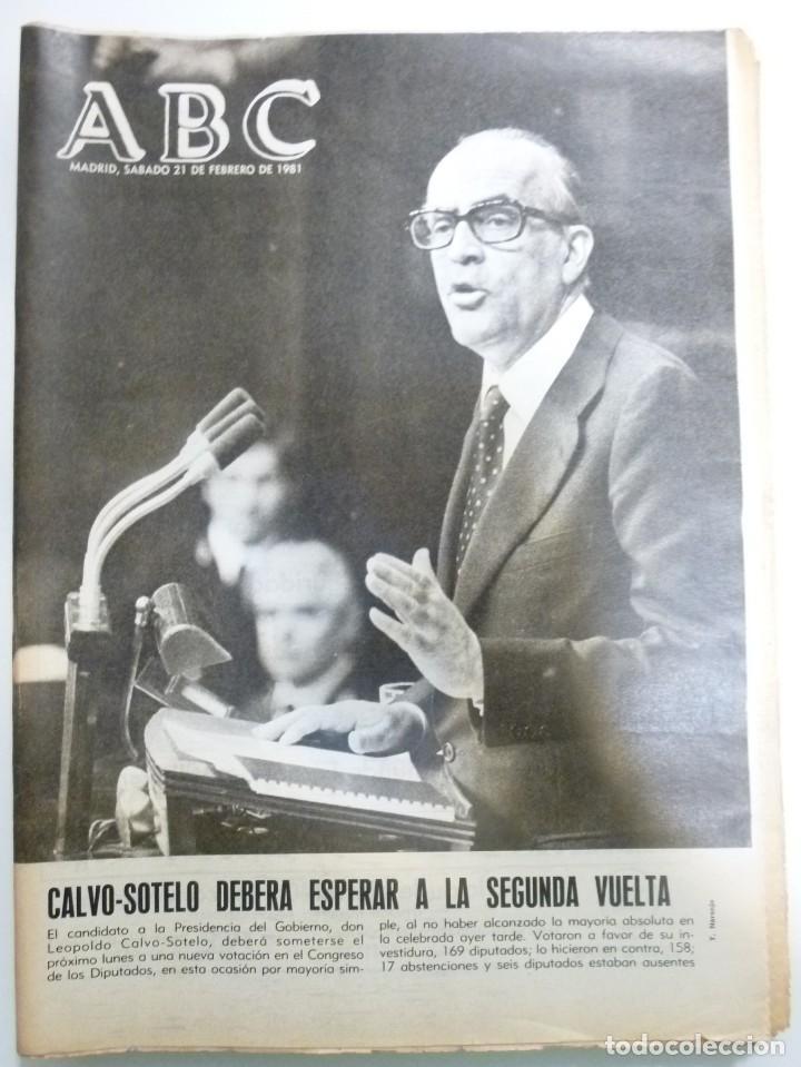 Coleccionismo de Revistas y Periódicos: Lote de periodicos ABC febrero de 1981 Adolfo Suarez Calvo Sotelo Tejero Milans del Bosch Armada - Foto 2 - 123060811