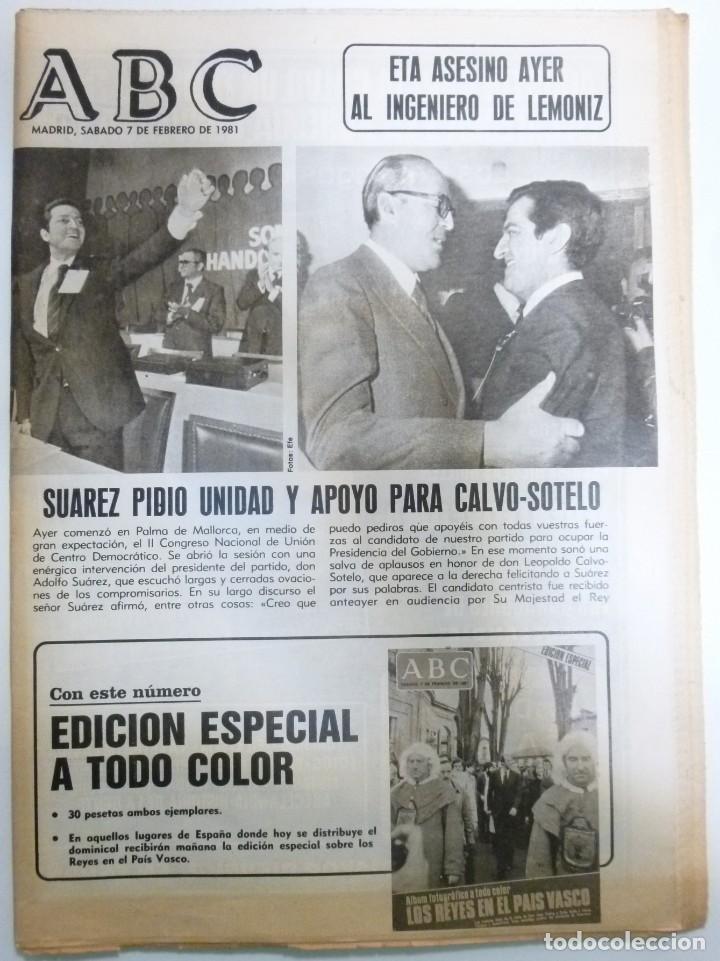 Coleccionismo de Revistas y Periódicos: Lote de periodicos ABC febrero de 1981 Adolfo Suarez Calvo Sotelo Tejero Milans del Bosch Armada - Foto 3 - 123060811