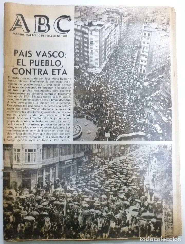 Coleccionismo de Revistas y Periódicos: Lote de periodicos ABC febrero de 1981 Adolfo Suarez Calvo Sotelo Tejero Milans del Bosch Armada - Foto 4 - 123060811