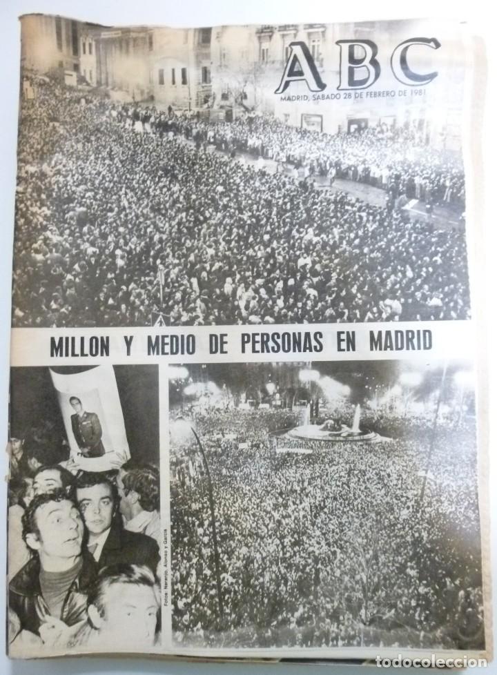 Coleccionismo de Revistas y Periódicos: Lote de periodicos ABC febrero de 1981 Adolfo Suarez Calvo Sotelo Tejero Milans del Bosch Armada - Foto 6 - 123060811