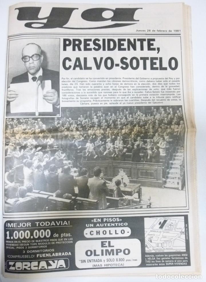Coleccionismo de Revistas y Periódicos: Lote de periodicos ABC febrero de 1981 Adolfo Suarez Calvo Sotelo Tejero Milans del Bosch Armada - Foto 7 - 123060811