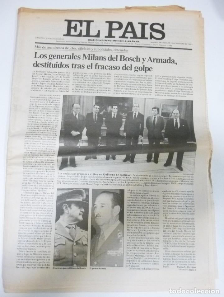Coleccionismo de Revistas y Periódicos: Lote de periodicos ABC febrero de 1981 Adolfo Suarez Calvo Sotelo Tejero Milans del Bosch Armada - Foto 8 - 123060811