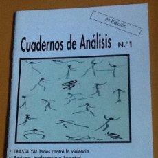Coleccionismo de Revistas y Periódicos: CUADERNOS DE ANÁLISIS. NÚMERO 1, SEGUNDA EDICIÓN. JÓVENES CONTRA LA INTOLERANCIA. Lote 123099503