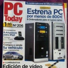 Coleccionismo de Revistas y Periódicos: REVISTAS PC TODAY - REVISTA INFORMÁTICA. Lote 123272611