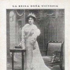 Coleccionismo de Revistas y Periódicos: 1908 HOJA REVISTA REINA DE ESPAÑA DOÑA VICTORIA ENA EUGENIA DE BATTENBERG RETRATO DE KAULAK. Lote 123380587