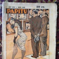 Coleccionismo de Revistas y Periódicos: REVISTA SATÍRICA PAPITU, N°1306- 21 MARÇ 1934.. Lote 123579654