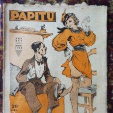 Coleccionismo de Revistas y Periódicos: REVISTA SATÍRICA PAPITU, N°1284- 25 OCTUBRE 1933.. Lote 123581030