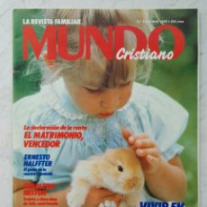 Coleccionismo de Revistas y Periódicos: LA REVISTA FAMILIAR MUNDO CRISTIANO ABRIL 1989. Lote 123668295