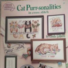 Coleccionismo de Revistas y Periódicos: CAT PURR-SONALITIES IN CROSS STITCH, PUNTO DE CRUZ. Lote 123696279