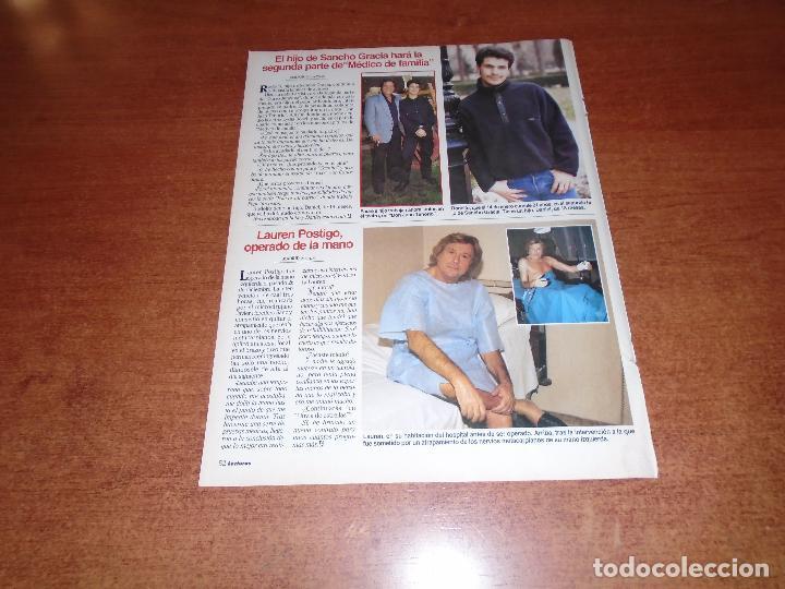 RETAL PRENSA 1996: LAUREN POSTIGO. SANCHO GRACIA. (Coleccionismo - Revistas y Periódicos Modernos (a partir de 1.940) - Otros)