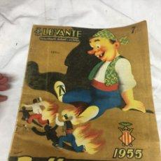 Coleccionismo de Revistas y Periódicos: PERIÓDICO LEVANTE FALLAS 1955. Lote 124037270