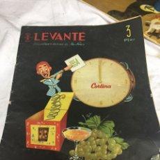 Coleccionismo de Revistas y Periódicos: PERIÓDICO LEVANTE AÑO 1954 AÑO NUEVO. Lote 124037866