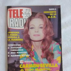 Coleccionismo de Revistas y Periódicos: REVISTA TELERADIO/CARMEN SEVILLA.. Lote 124168399