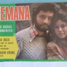 Coleccionismo de Revistas y Periódicos: RECORTE FOTO DE ELSA BAEZA REVISTA SEMANA Nº 1875. Lote 124393755
