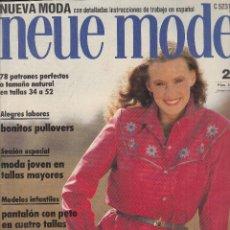Coleccionismo de Revistas y Periódicos: REVISTA NEUE MODE. GRAN DESFILE DE VESTIDOS. PANTALON CON PETO EN CUATRO TALLAS. . Lote 124396719