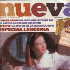 Coleccionismo de Revistas y Periódicos: REVISTA NUEVA. ESPECIAL LENCERIA, DECORACIÓN. COMPRAR EN SAN VALENTIN. . Lote 124397003