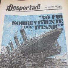 Coleccionismo de Revistas y Periódicos: REVISTA ¡DESPERTAD! 22 DE ABRIL DE 1982. Lote 124416743