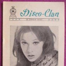 Coleccionismo de Revistas y Periódicos: REVISTA, DISCO - CLAN, MASSIEL, EXPLOSION DEL 66, AUTOGRAFO MASSIEL, 1966, Nº 9. Lote 124429679