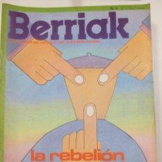 Coleccionismo de Revistas y Periódicos: BERRIAK SEMANARIO VASCO DE INFORMACION ESPECIAL ANIVERSARIO 40 AÑOS DE GOBIERNO VASCO NUM 5 OCT1976. Lote 124437471