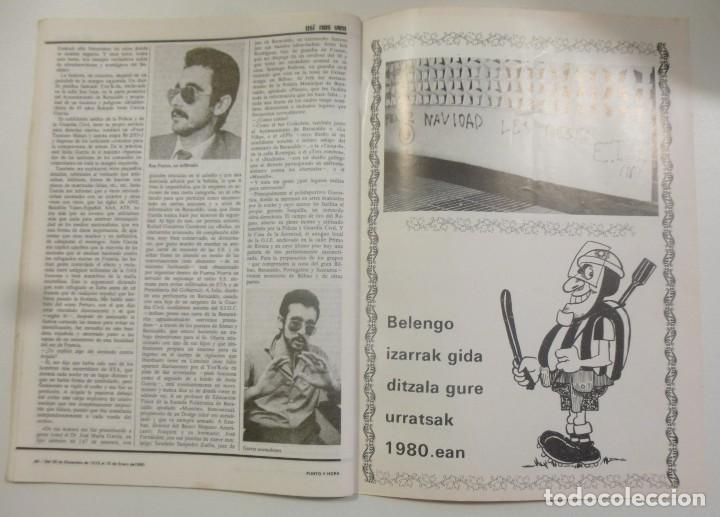 Coleccionismo de Revistas y Periódicos: Revista Vasca Punto y Hora de Euskal Herria Num 157 de Enero 1980 transición Política Resumen 1979 - Foto 5 - 124443295
