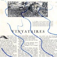 Coleccionismo de Revistas y Periódicos: VINYATAIRES 1928 2 HOJAS REVISTA. Lote 124582943