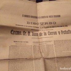 Coleccionismo de Revistas y Periódicos: 1910 MOVIMIENTO REVOLUCIONARIO Y LA CONDUCTA DEL PARTIDO CONSERVADOR JUAN DE LA CIERVA Y PEÑAFIEL. Lote 124666875