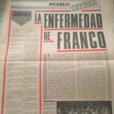 Coleccionismo de Revistas y Periódicos: PUEBLO CRONOLOGIA LA ENFERMEDAD DE FRANCO PUEBLO.VER FOTOS. Lote 124845739