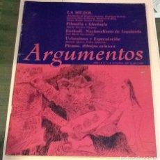 Coleccionismo de Revistas y Periódicos: REVISTA ARGUMENTOS, NÚMERO 5, OCTUBRE 1977. INFORME MUJER.. Lote 124943679