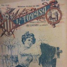 Coleccionismo de Revistas y Periódicos: LA TOMASA. SETMANARI CATALÀ. SÁTIRA Y EROTISMO. LOTE DE 30 EJEMPLARES AÑOS 1903-1904. . Lote 125069155
