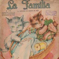 Coleccionismo de Revistas y Periódicos: NUEVE NÚMEROS REVISTA DE MODAS Y HOGAR LA FAMILIA AÑO 1950 - INCLUYE PATRONES. Lote 125147091