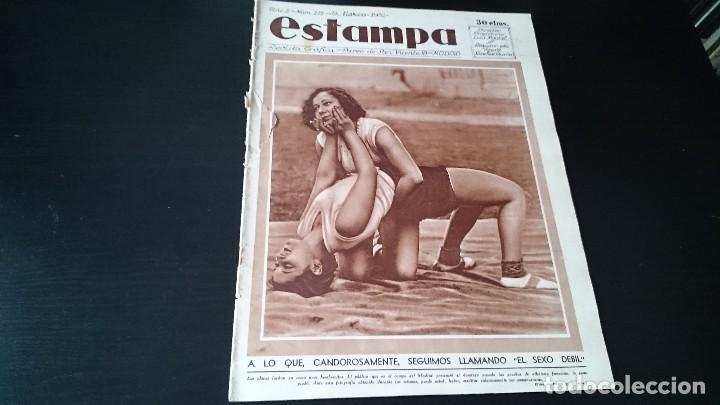 REVISTA GRÁFICA ESTAMPA 19 MARZO 1932 AÑO 5 NUM 219 LO QUE SEGUIMOS LLAMANDO SEXO DEBIL - REPÚBLICA (Coleccionismo - Revistas y Periódicos Antiguos (hasta 1.939))